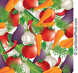 vegetables - colorful vegetables over white background...