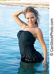 Black Dress Worn in the Water.