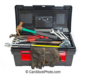 tool box - a toolbox set against a white background
