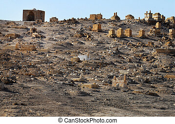 Travel Photos of Israel - Judean Desert - Old Muslim grave...