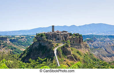 Panoramic view of Civita di Bagnoregio Lazio Italy