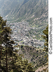 andorra la vella view from a distance - andorra la vella in...