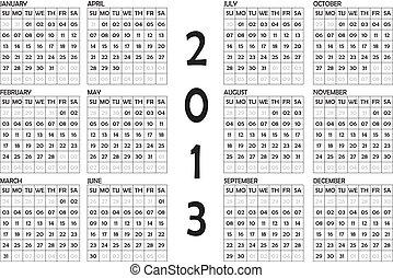 2013 CALENDAR LANDSCAPE ORIENTATION - CALENDAR 2011 ON...
