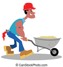 Construction worker cartoon - Cartoon construction worker...