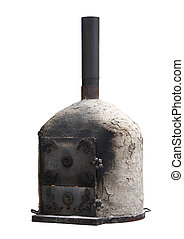 oven - Isolated image of a pizza oven furnace
