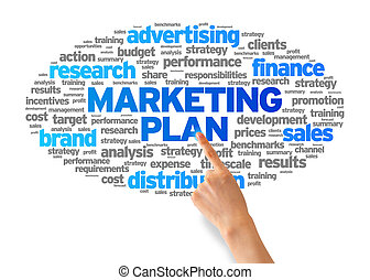 Marketing Plan - Hand pointing at a Marketing Plan Word...