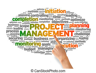Project Management - Hand pointing at a Project Management...