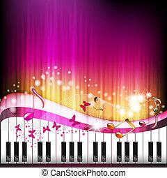 鑰匙, 鋼琴, 蝴蝶