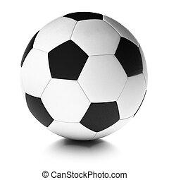soccer ball over white background, football equipment