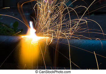 Sparks of the fused metal - Sparks in smelting industry