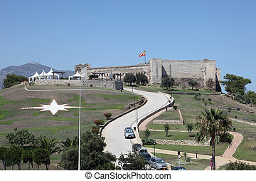 Fortress Castillo de Sohail in Fuengirola, Andalusia Spain