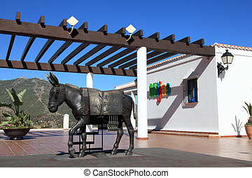 The donkey of Mijas, Costa del Sol, Andalusia Spain