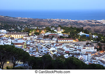 White Andalusian village Mijas Pueblo. Province of Malaga,...