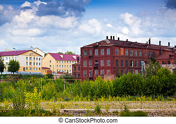 old building of textile factories - The old building of...