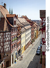 Nuremberg - An image of some houses in Nuremberg Bavaria...
