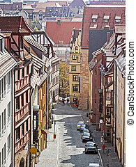Nuremberg - An image of some houses in Nuremberg Bavaria...