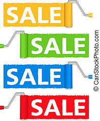 Sale banners, vector eps10 illustration