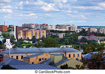 Top view of Vladimir city, Russia