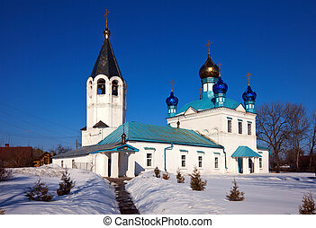 Church at Gorokhovets. Russia - Church of Our Lady of Kazan...