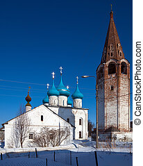 Cathedral at Gorokhovets in winter. Russia - Cathedral of...