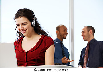Business Team - business team with a woman in the foreground