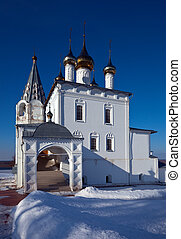 Trinity Cathedral at Gorokhovets in winter. Russia - Trinity...