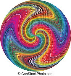 Color typhoon - Vector circle in vivid and brilliant rainbow...