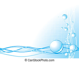 Bubbles on the abstract background Vector illustration