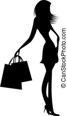 fashionable girl silhouettes
