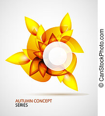 Autumn symbol - Vector abstract autumn concept made of...
