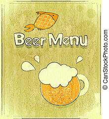 Retro Design Cover of Beer Menu