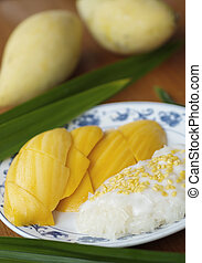 Mango sticky rice2 - This is famous popular and delicious...