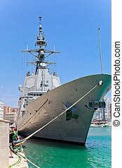 Frigate F-101 Alvaro de Bazan - MALAGA, SPAIN-MAY 28:...