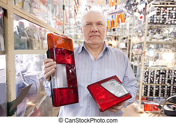 man  in  auto parts store
