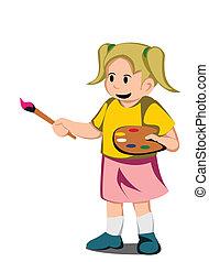 girl paint artist