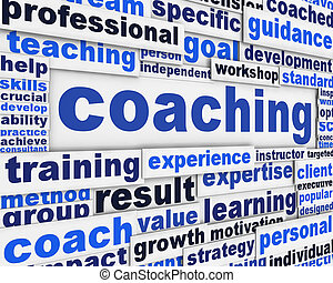 Coaching message conceptual design. Professional competences...