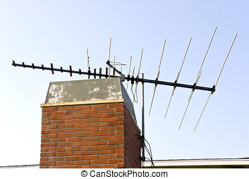 Old fashioned metal TV antenna - A large metal TV antenna...