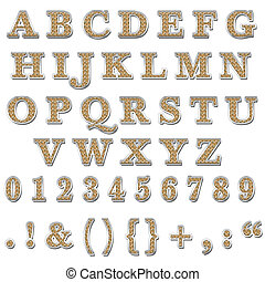 Orange Bling Upperercase Alphabet - Bling Upperercase...