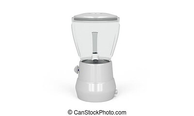 Blender - Electric blender rotates on white background