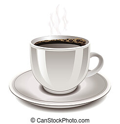 Cup of coffee, vector illustration
