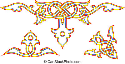 Slavic ornament - Decorative elements of slavic art vector...