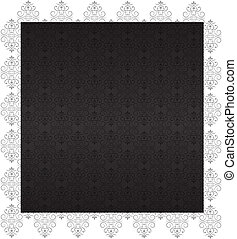 Decorative Charcoal Wallpaper with Ornaments