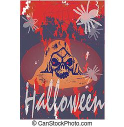 Skull Halloween scary - Skull Halloween grunge scary