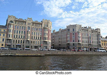 Fontanka Embankment. St.Petersburg - View of Fontanka...