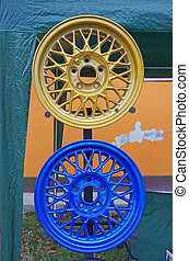 Fresh painted rims - Fresh painted auto rims at Piatra Neamt...