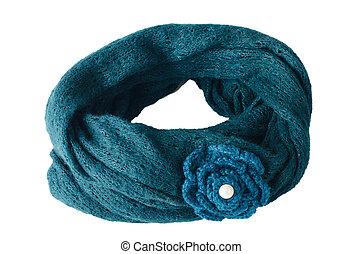 Warm scarf in blue