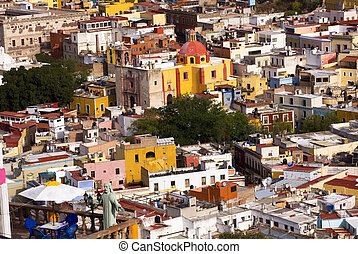 Balcony Churches Mexico - Balcony Overlooking Multi-Colored...