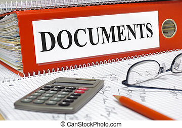 documents - file marked with documents
