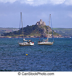 St. Michael's Mount in Cornwall - A view of the magnificent...