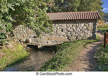 Watermill at Umia river on Ribadumia